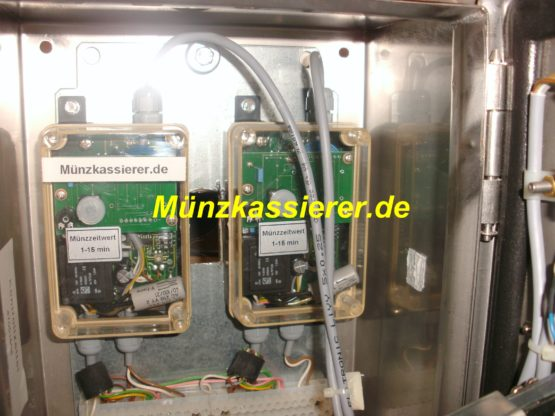 Münzkassierer.de Münzautomat Münzkassierer Edelstahl DUSCHE 12V FRANKE 2 Duschplätze