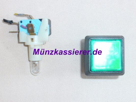 Münzkassierer.de Münzautomaten.com SI Steuerung SI Elektronik Schalter Bestätigen Druckschalter Grün