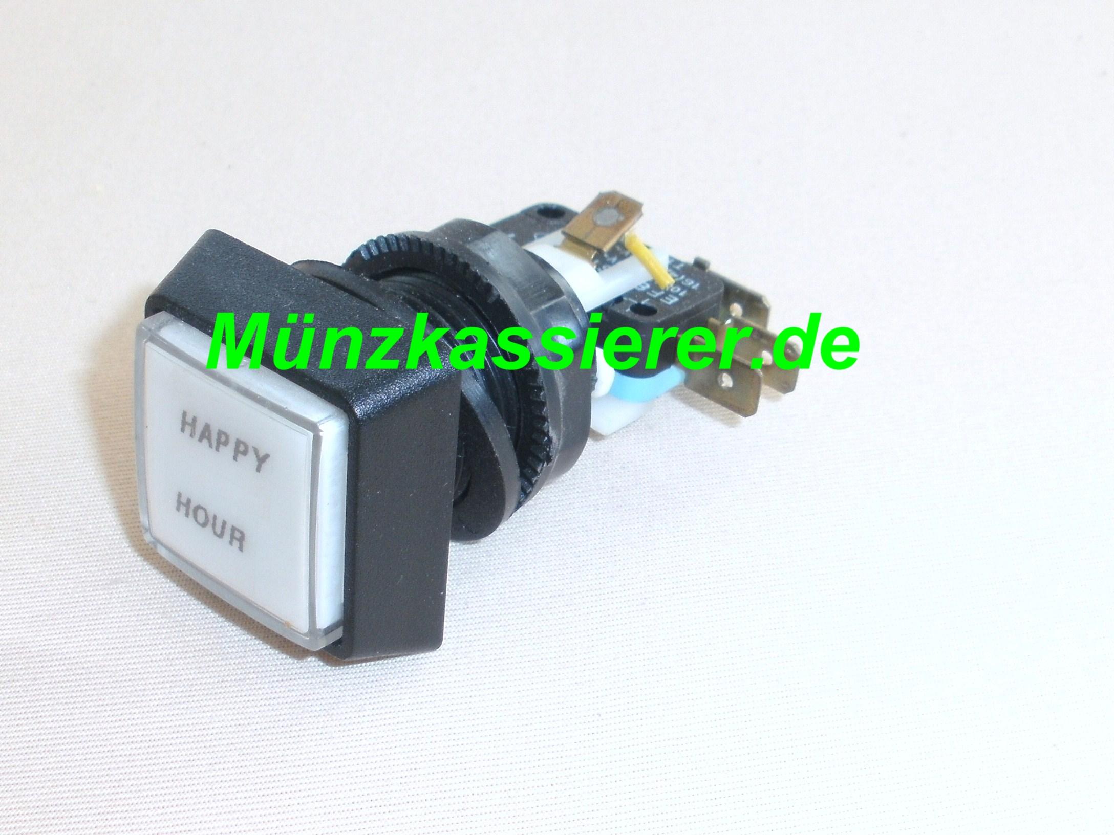 Münzkassierer.de Münzautomaten.com SI Steuerung SI Elektronik Schalter HAPPY HOUR Druckschalter Weiß