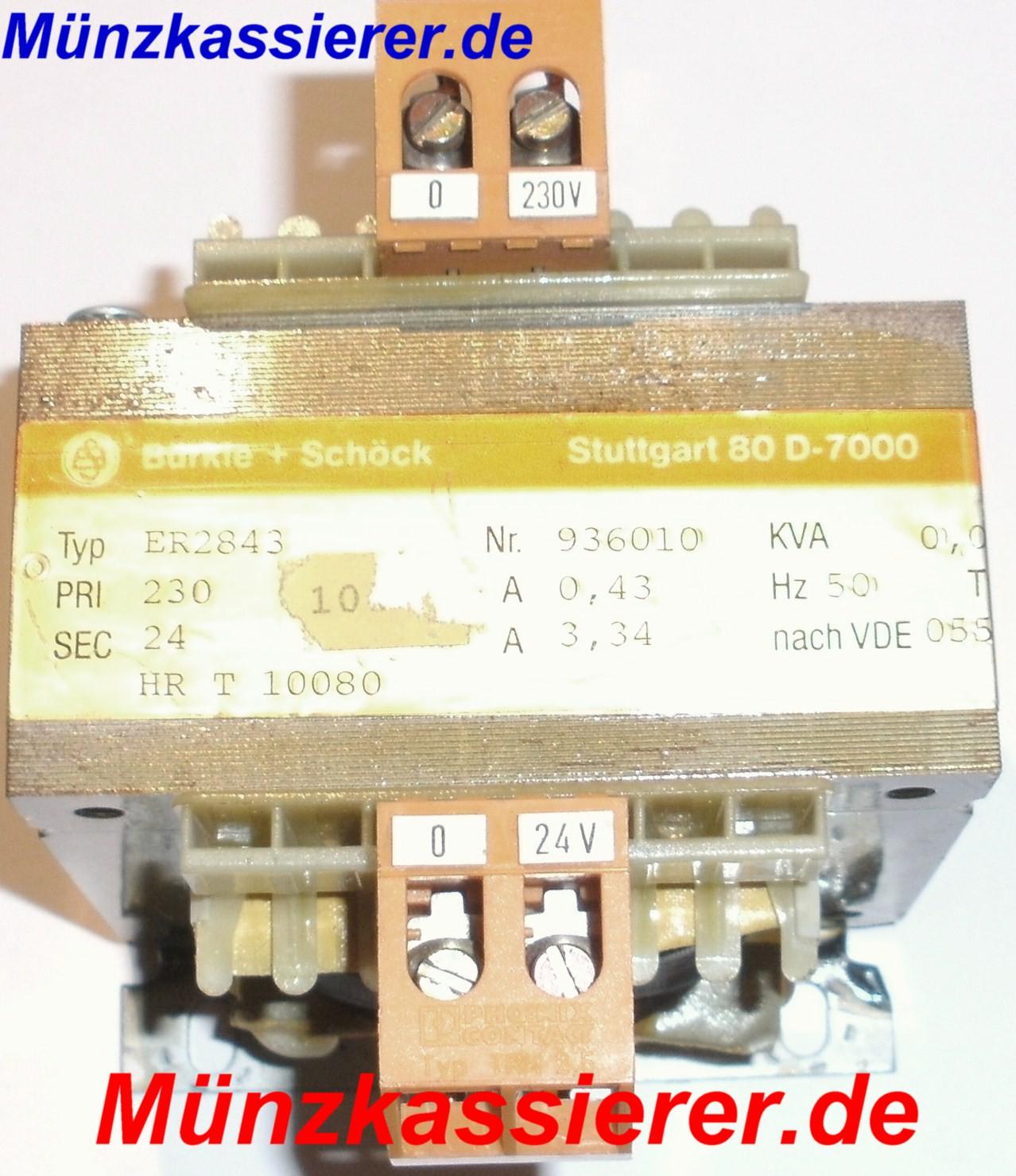 Münzkassierer.de TRAFO Transformator Netzteil 230VAC 24VAC 80VA Kleinspannung
