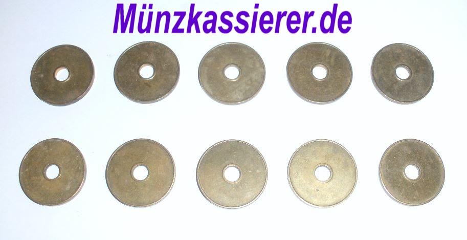 10 x Wertmarken Ø 27 x 2,3 Loch Ø 6mm. Münzkassierer.de Münzkassierer (2)