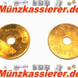 10 x Münzen Wertmarken Ø 26,8 x 1,8 Loch Ø 6mm.-Münzkassierer.de-0