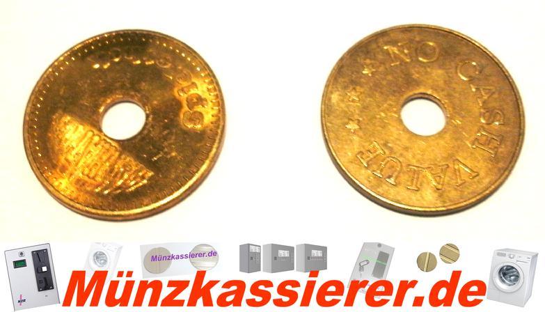 10 x Münzen Wertmarken Ø 26,8 x 1,8 Loch Ø 6mm.-Münzkassierer.de-1