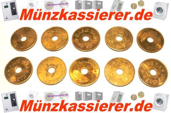 10 x Münzen Wertmarken Ø 26,8 x 1,8 Loch Ø 6mm.-Münzkassierer.de-2