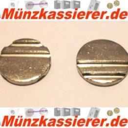 10 x Wertmarken Ø 24 x 3,2 mm. Rillen Profiliert Münzkassierer-Münzkassierer.de-1
