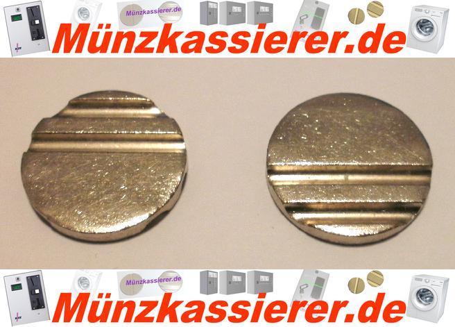 10 x Wertmarken Ø 24 x 3,2 mm. Rillen Profiliert Münzkassierer-Münzkassierer.de-2