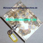 Edelstahl Münzautomat Waschmaschine 1Euro Einwurf